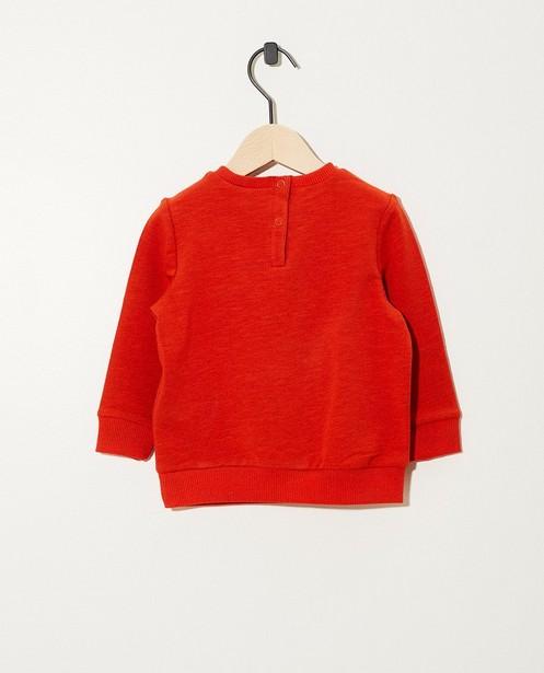 Sweats - rood fel - Sweat orange, imprimé de dinos