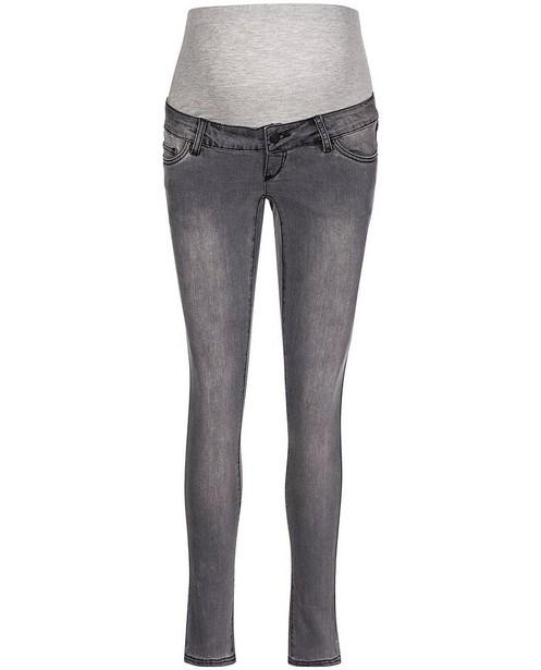 Grijze slim fit jeans Mamalicious - zwangerschap - mali