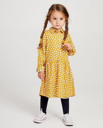Robe jaune, imprimé de cœurs