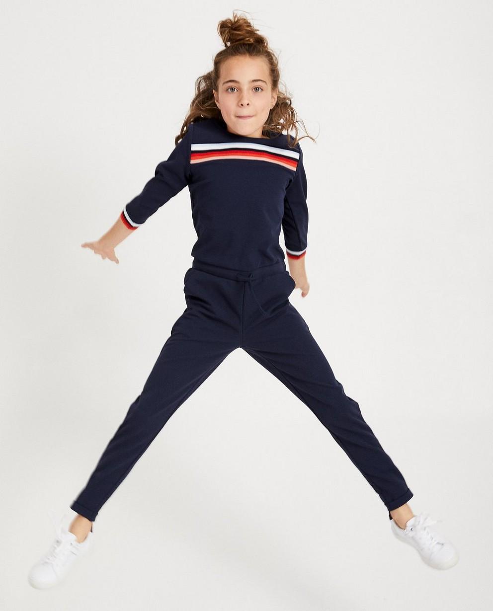 Dunkelblauer Jumpsuit mit Streifen - mit langen Ärmeln - JBC