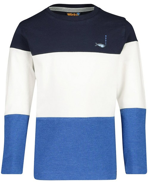 T-shirt à manches longues Vic - color block, bleu - Vic le Viking