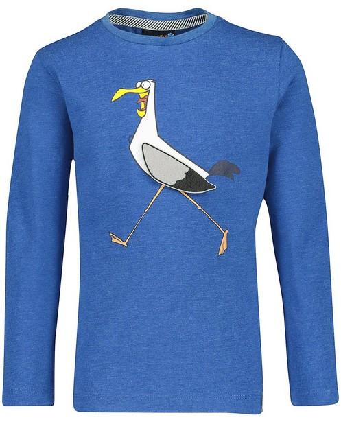 T-shirt à manches longues Vic - à la poitrine, bleu - Vic le Viking