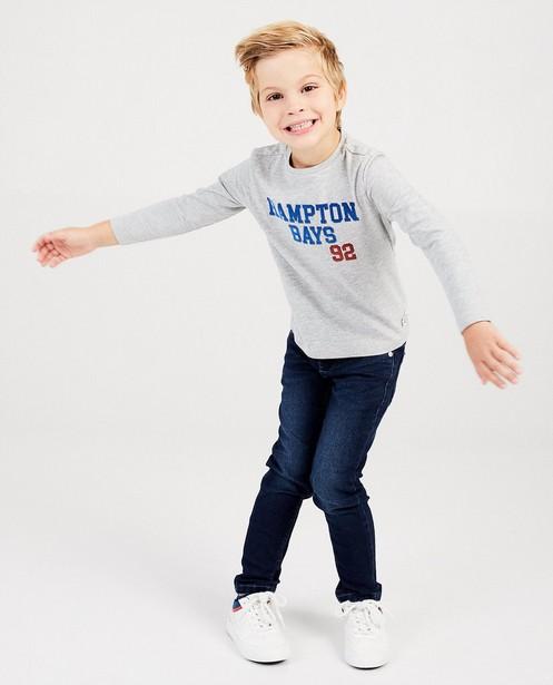T-shirt gris à manches longues - inscription Hampton Bays - Hampton Bays