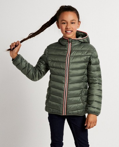 Khakigrüne Jacke aus Kunstdaunen