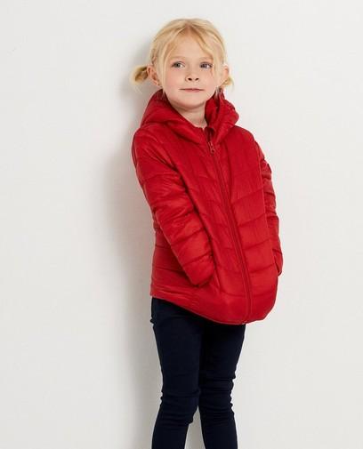 Rode jas met kap