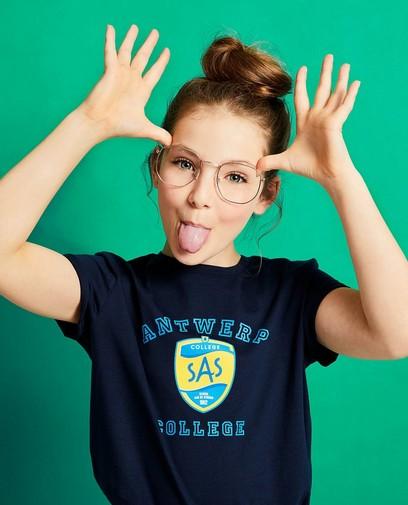 T-shirt bleu foncé #LikeMe