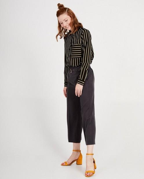 Pantalon en lyocell I AM - gris foncé - I AM