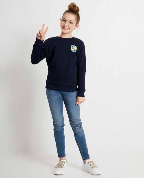 Donkerblauwe sweater #LikeMe - met print - Like Me