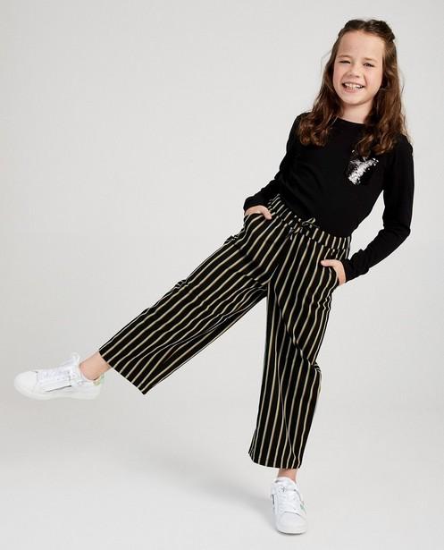 Zwarte broek met strepen I AM - allover - I AM