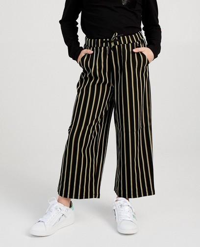 Zwarte broek met strepen I AM