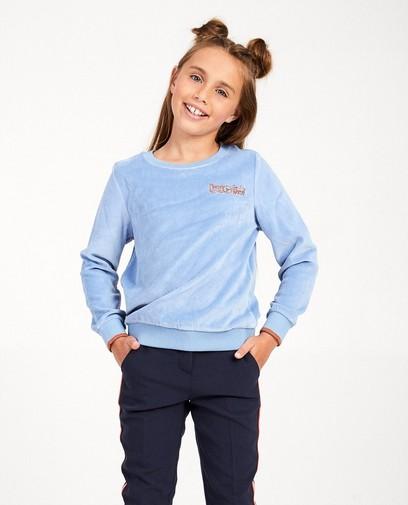 Lichtblauwe sweater Nachtwacht