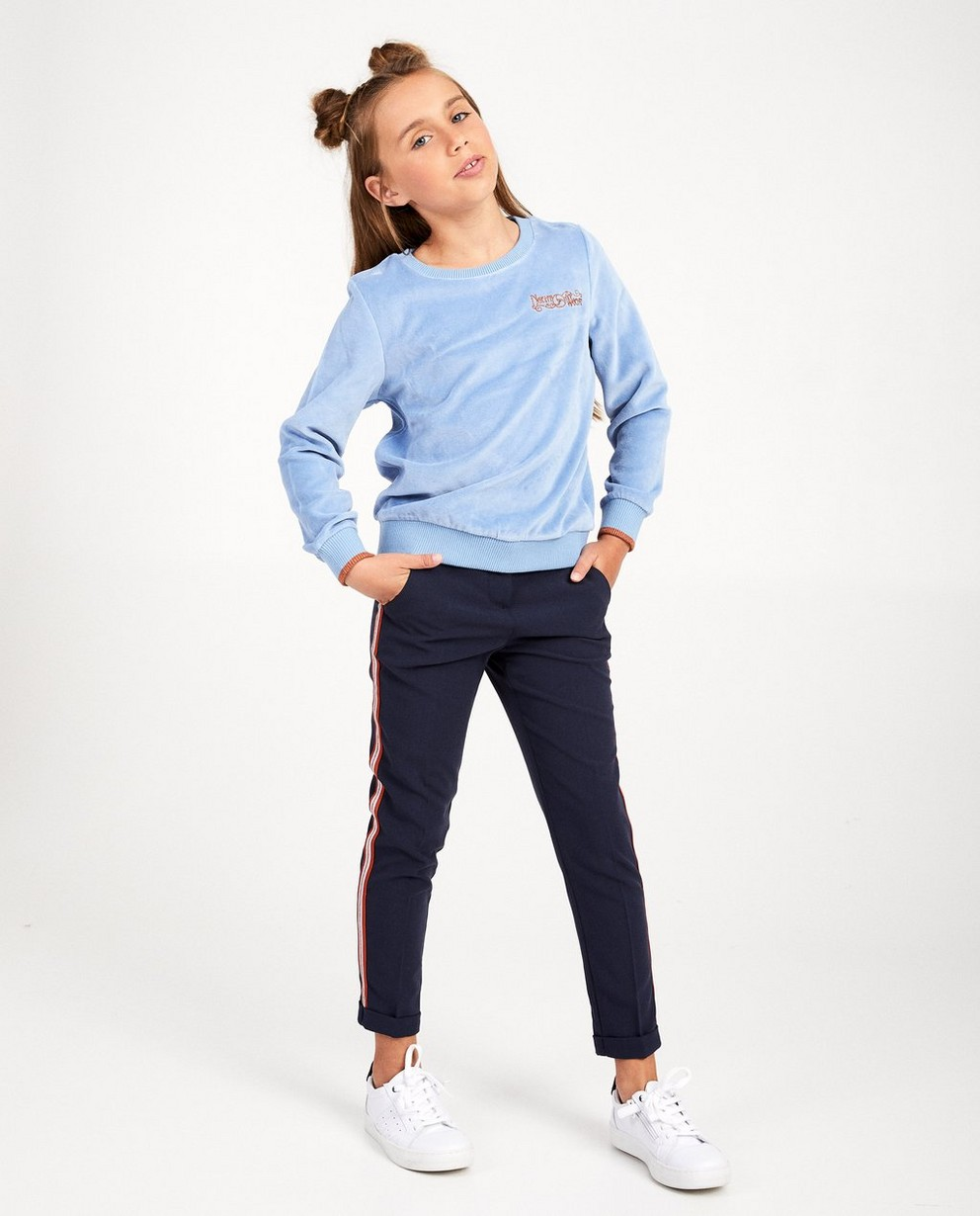 Blauwe broek met streep Nachtwacht - aan de zij - Nachtwacht