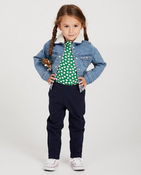 Veste en jeans, petits cœurs - col teddy amovible - JBC