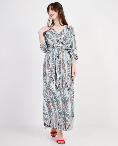 Lichtblauwe maxi-jurk Ella Italia - Allover print - elle