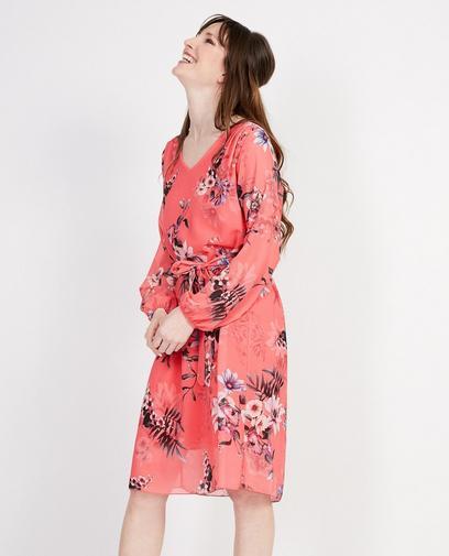 Robe rouge à imprimé fleuri Elle Italia
