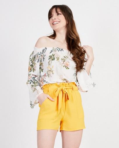 Witte blouse met bloemen Ella Italia