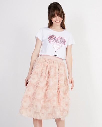 T-shirt blanc, imprimé de cœurs Ella Italia
