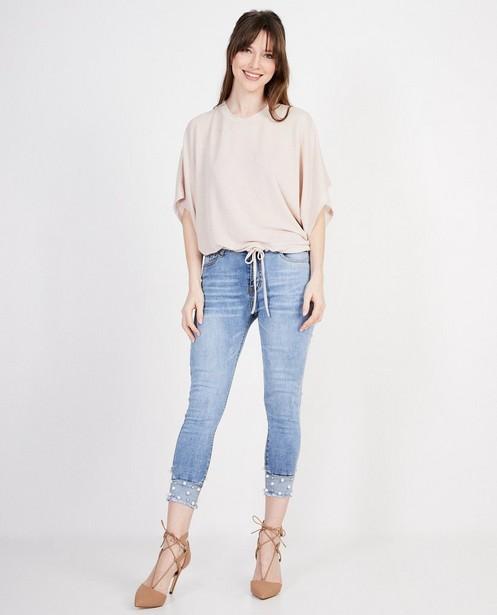 Roze blouse Ella Italia - met metaaldraad - ella