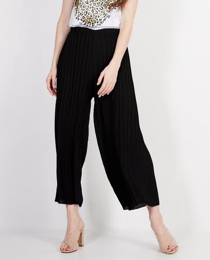 Zwarte plissé broek Elle Italia