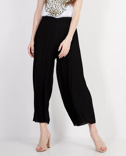 Zwarte plissé broek Ella Italia