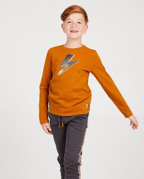 T-shirts - brown - T-shirt cognac à manches longues