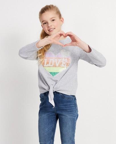 Grijze sweater met hart Ella Italia