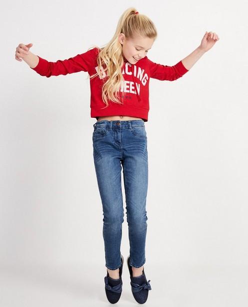 Rode cropped hoodie Ella Italia - Met kap - elle