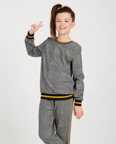 Graues Sweatshirt mit Karomuster