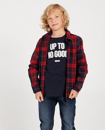 Hemd met rode ruiten, 7-14 jaar