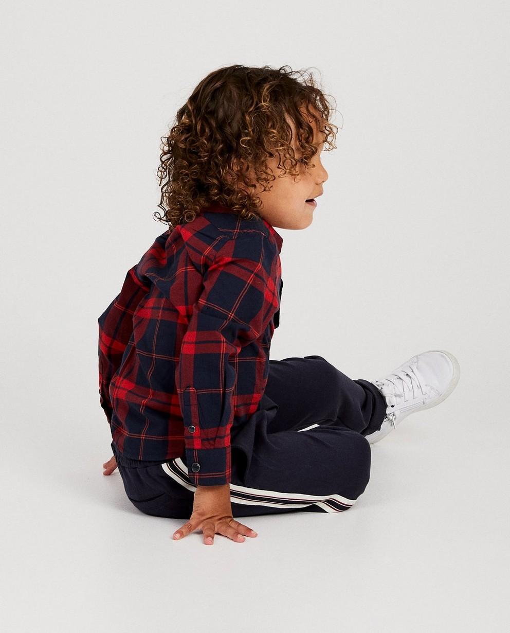 Chemise, 2-7 ans - à carreaux rouges - JBC