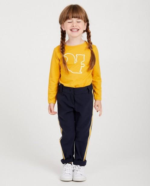 T-shirt à manches longues - imprimé brodé tricolore - Milla Star