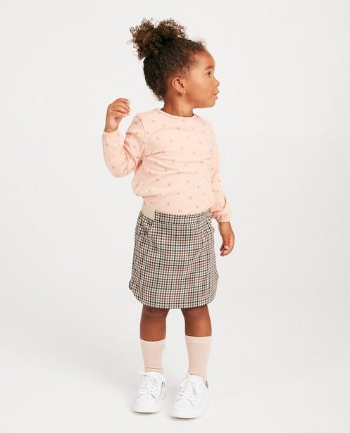 T-shirt rose à manches longues - Prinsessia, imprimé - Prinsessia