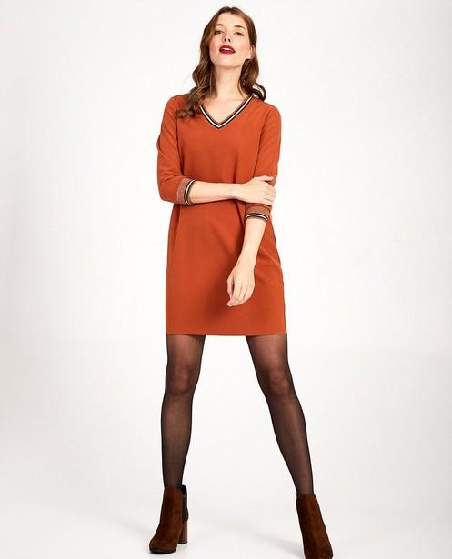Roestbruine jurk Sora - in 2 kleuren - Sora