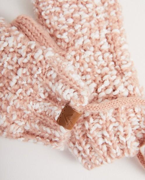 Bonneterie - Moufles roses et blanches