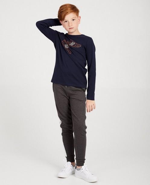 Pantalon bleu foncé BESTies - gris clair - Besties