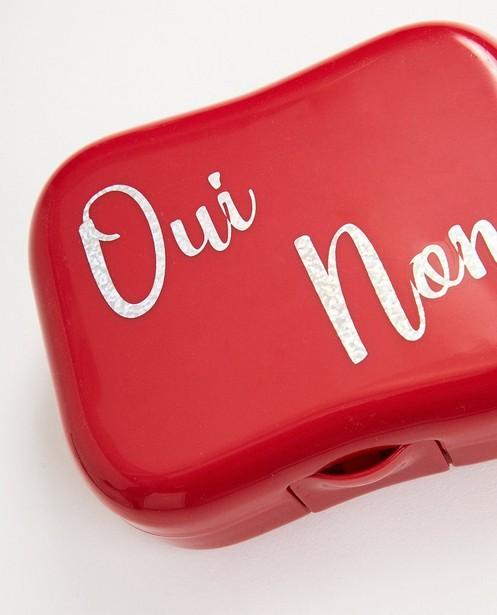 Gadgets - Rode boterhammendoos met opschrift