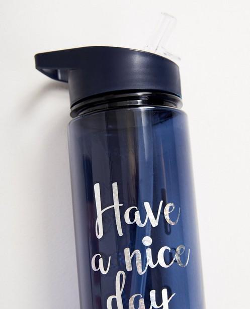 Gadgets - Blaue Trinkflasche mit Aufschrift