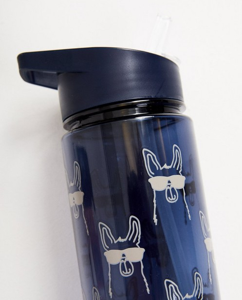 Gadgets - BLD - Blauwe drinkbus met print