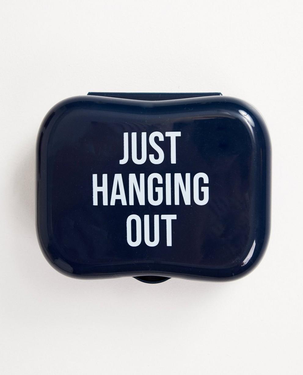 Boîte à tartines bleue - inscription sur le couvercle - JBC