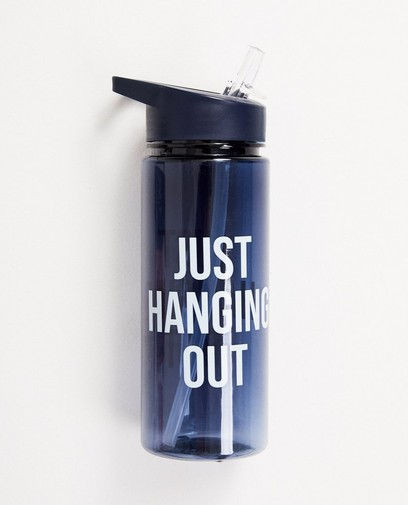 Blaue Trinkflasche mit Druck