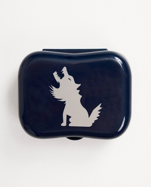 Boîte à tartines bleue - couvercle imprimé - JBC