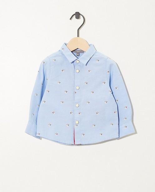 Lichtblauw hemdje met dinoprint - allover - JBC
