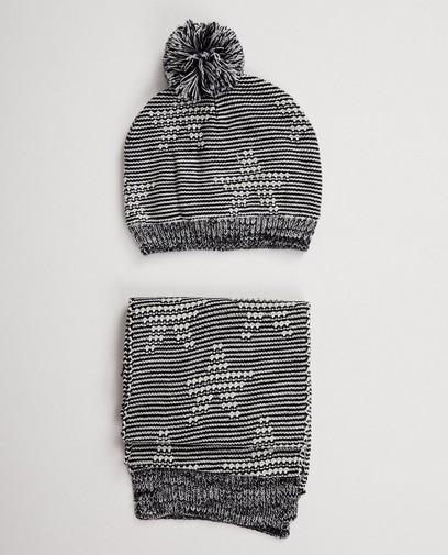Set: Mütze + Schal mit Sternen