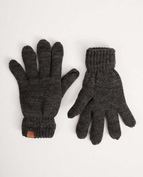 Gants gris foncé - avec fleece noir - JBC