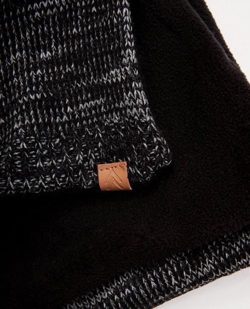 Bonneterie - Ensemble: bonnet + écharpe noirs