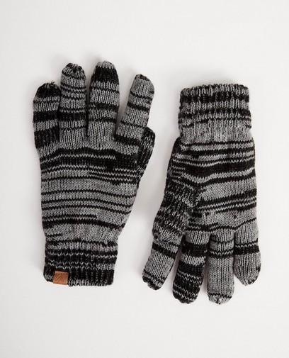 Schwarze Handschuhe mit Streifen