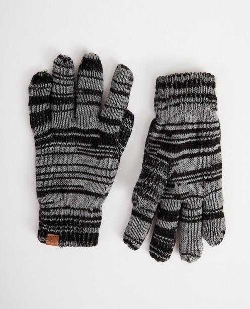 Gants noirs à rayures - gris foncé - JBC