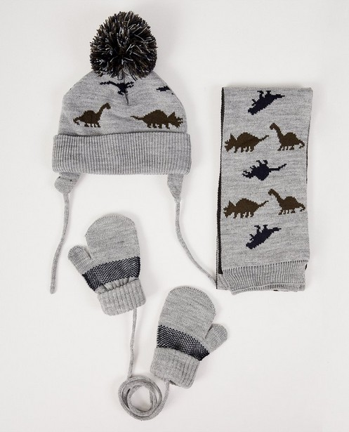 Set van sjaal, muts en wanten - in grijs - JBC NL