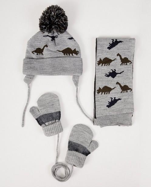 Écharpe, bonnet et moufles - gris - JBC