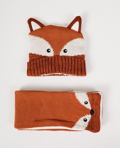 Bonnet + écharpe animal - renard